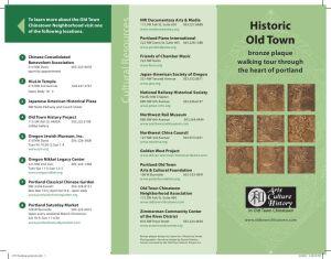 Old Town Bronze Plaque Walking Tour